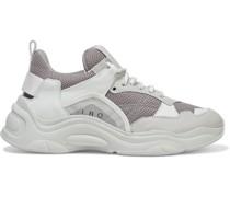 Curve Runner Sneakers aus Mesh und Leder mit Velourslederbesatz