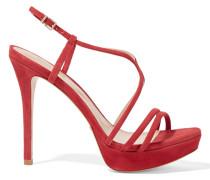 Gabby Suede Platform Sandals Rot
