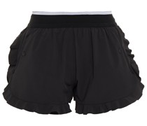 Hiit Ruffle-trimmed Layered Stretch Shorts