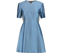 Joanna Silk And Wool-blend Jacquard Dress Blau