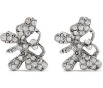 Oxidierte farbene Ohrringe mit Kristallen