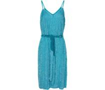 Kleid aus Chiffon mit Pailletten und Samtbesatz