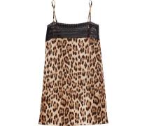 Lace-trimmed Leopard-print Silk-blend Camisole Leoparden-Print