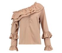 Irina ruffled crepe blouse