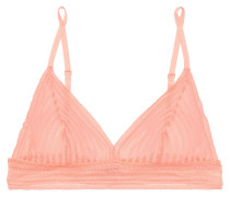 Woman Sweet Treats Lace Soft-cup Triangle Bra Baby Pink