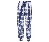 Charley Tie-dyed French Cotton-terry Track Pants