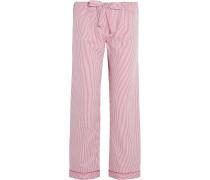 Verbier Striped Swiss Cotton Pajama Pants Rot