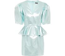 Mindy Minikleid aus Webstoff mit Metallic-effekt und Schößchen