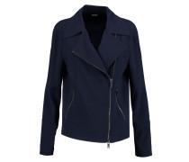 Crepe Biker Jacket Mitternachtsblau