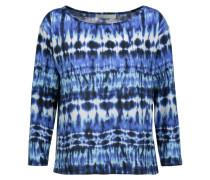 Amelia Tie-dyed Stretch-modal Top Blau