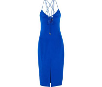 Courtney cutout silk-crepe dress
