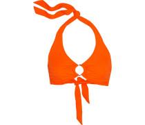 Halterneck Bikini Top Orange