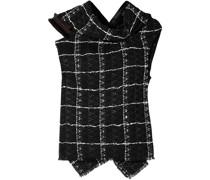 Eugene Kariertes Oberteil aus Bouclé-tweed aus Einer Baumwollmischung mit Bindedetail Hinten