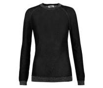 Metallic stretch-knit sweater