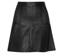Brompton Perforated Leather Mini Skirt Schwarz