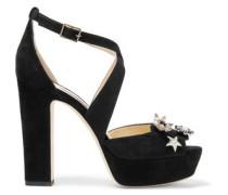 Janet embellished suede platform sandals