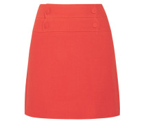 Lyoka Wool-blend Crepe Mini Skirt Papaya