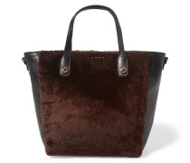 Alana Shearling And Leather Tote Dunkelbraun