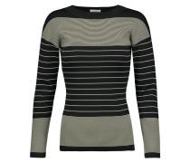 Rauris Striped Stretch-knit Sweater Schwarz
