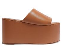 Blackout Textured-leather Platform Sandals