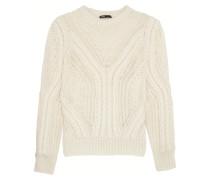 Open-knit Wool-blend Sweater Ecru