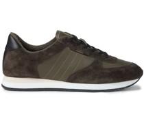 Sneakers mit Einsätzen aus Leder und Veloursleder