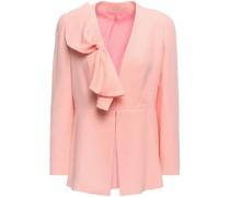 Bow-embellished Crepe Jacket