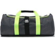 Neon-trimmed Canvas Weekend Bag Indigo Size --