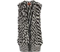 Paneled Cashmere-blend Bouclé Vest Schwarz