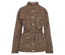 Ellery Belted Leopard-print Cotton-twill Jacket