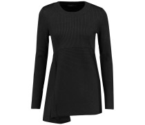 Ribbed Silk-blend Sweater Schiefer