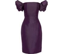 Schulterfreies Kleid aus Twill aus Duchesse-satin mit Falten