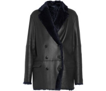 Ringo double-breasted shearling coat