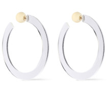 Gold-plated Resin Hoop Earrings