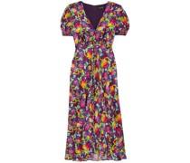 Lea Floral-print Silk Crepe De Chine Dress