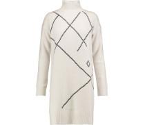 Merino Wool And Cashmere-blend Dress Wollweiß