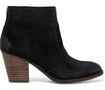 Mari Burnished Suede Ankle Boots