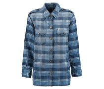 The Perfect Checked Cotton Shirt Blau