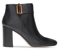 Gloria Leather Ankle Boots Schwarz