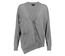 Asymmetric Cotton Cardigan Grau