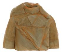 Stalacmite Cropped Plissé-tulle Jacket