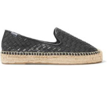 Woven leather espadrilles