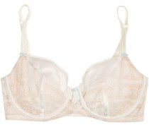 Paradise Promises satin-trimmed lace underwired bra