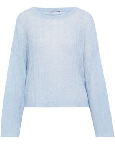 Mélange Cable-knit Cashmere And Silk-blend Sweater Sky Blue