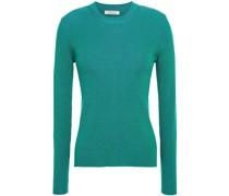 Pullover aus Einer Gerippten Seidenmischung