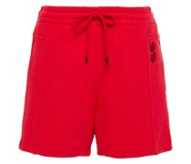 Embroidered French Cotton-terry Shorts