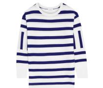 Leigh Striped Cashmere Sweater Elfenbein