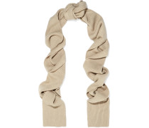 Genava Ribbed-knit Scarf Champignon