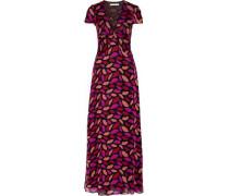 Adrienne printed silk-chiffon gown