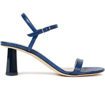 Magnolia Lizard-effect Leather Sandals